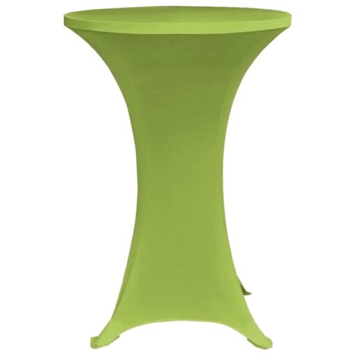 vidaXL bordovertræk i stretch 2 stk. 80 cm grøn