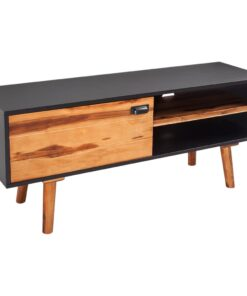 vidaXL TV-bord i massivt akacietræ 120 x 35 x 50 cm