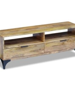 vidaXL TV-bord i mangotræ 120x35x45 cm