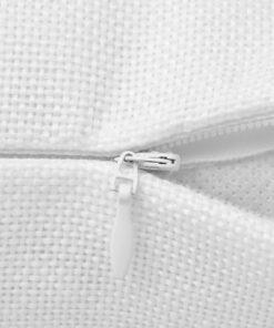 vidaXL pudebetræk 4 stk. linned-look hvid 40×40 cm