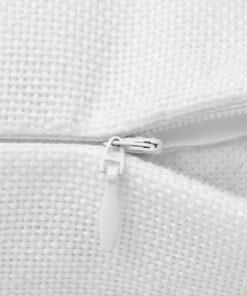 vidaXL 4 stk. pudebetræk linned-look hvid 80×80 cm