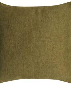 vidaXL 4 stk. pudebetræk linned-look grøn 80×80 cm