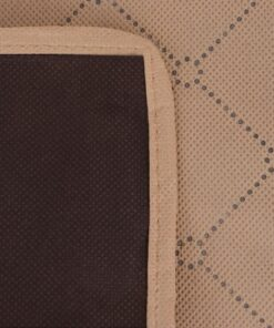 vidaXL picnictæppe beige og brun 100×150 cm