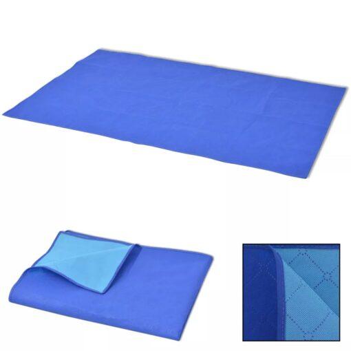 vidaXL picnictæppe blå og lyseblå 150×200 cm