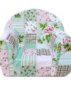 vidaXL børnelænestol blomstermønster