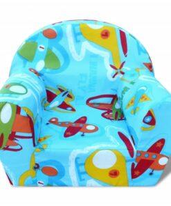 vidaXL børnelænestol flyvemaskinemønster