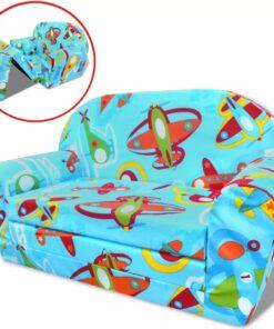 vidaXL udfoldelige børnesofastol i flyvemaskinemønster