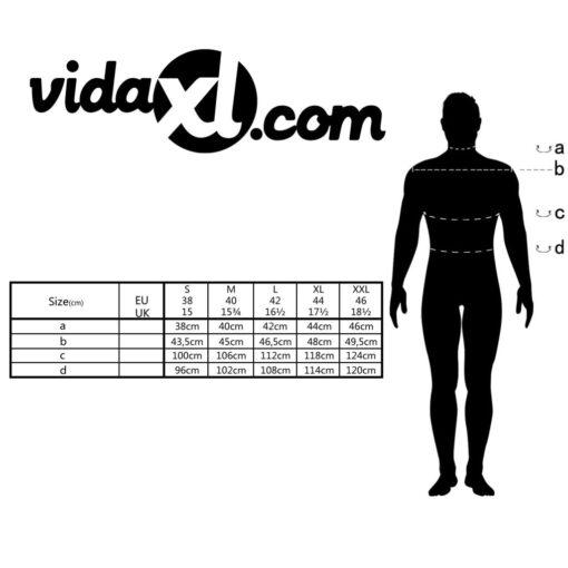 vidaXL businessherreskjorte ternet hvid og lyseblå str. S