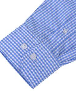 vidaXL businessherreskjorte ternet hvid og lyseblå str. L
