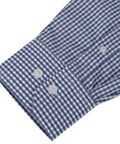 vidaXL businessherreskjorte ternet hvid og mørkeblå str. XL
