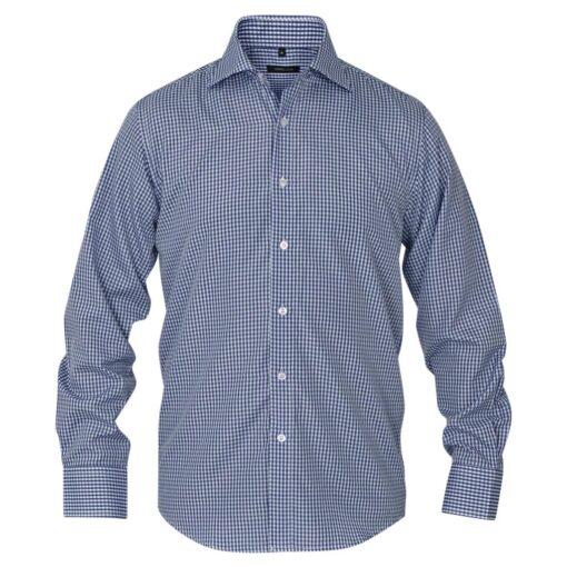 vidaXL businessherreskjorte ternet hvid og mørkeblå str. XXL