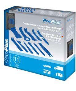 ProPlus værktøjssæt til lister og interiør 11 dele 590156