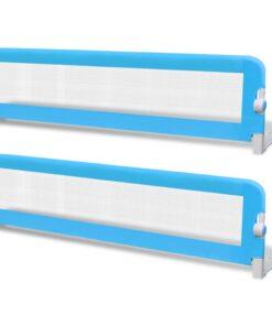 vidaXL sengehest til børn 2 stk. blå 150 x 42 cm