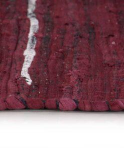 vidaXL håndvævet chindi-tæppe bomuld 80 x 160 cm bordeauxfarvet