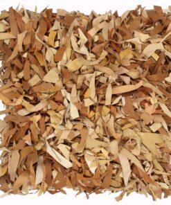 vidaXL pude pjusket gyldenbrun 60 x 60 cm læder og bomuld