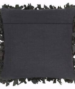 vidaXL puder 2 stk. pjusket sort 45 x 45 cm læder og bomuld