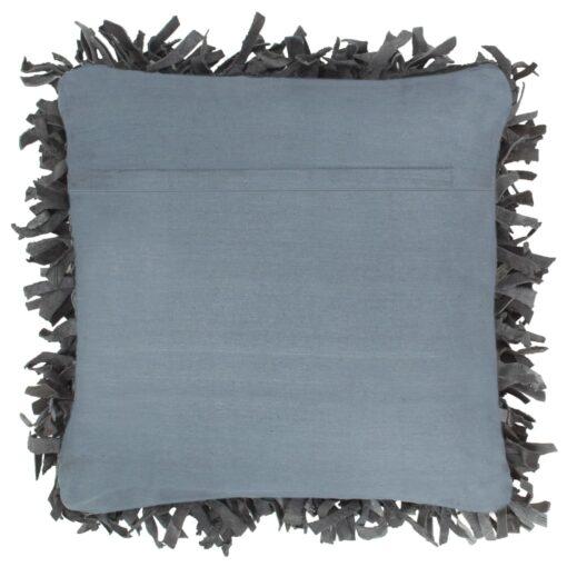 vidaXL pude pjusket grå 60 x 60 cm læder og bomuld
