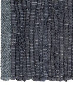vidaXL dækkeservietter 4 stk. chindi 30 x 45 cm bomuld antracitgrå