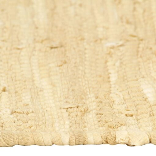 vidaXL dækkeservietter 4 stk. 30 x 45 cm bomuld chindi beige
