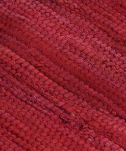 vidaXL dækkeservietter 4 stk. 30 x 45 cm bomuld chindi bordeaux