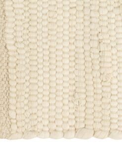vidaXL dækkeservietter 4 stk. 30 x 45 cm bomuld chindi cremefarvet