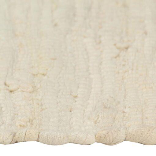 vidaXL dækkeservietter 6 stk. 30 x 45 cm bomuld chindi cremefarvet