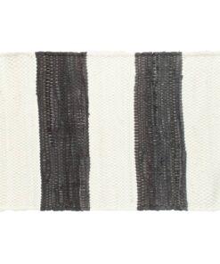 vidaXL dækkeservietter 4 stk. 30 x 45 cm chindi stribet grå og hvid