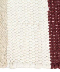 vidaXL dækkeservietter 6 stk. 30 x 45 cm chindi stribet bordeaux/hvid