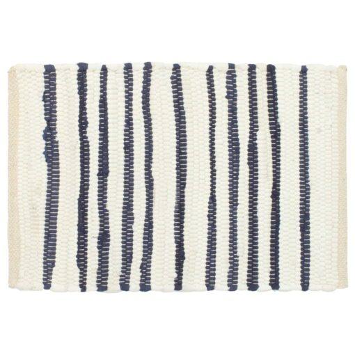 vidaXL dækkeservietter 6 stk. 30 x 45 cm bomuld blå og hvid