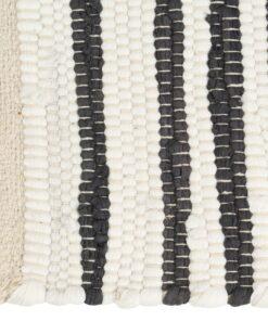 vidaXL dækkeservietter 4 stk. 30 x 45 cm bomuld antracitgrå og hvid