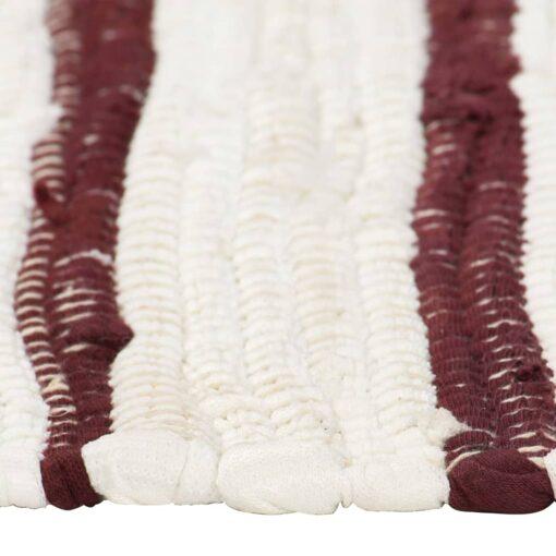 vidaXL dækkeservietter 4 stk. 30 x 45 cm bomuld bordeaux og hvid