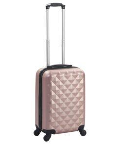 vidaXL hardcase-kuffert ABS rosenguld