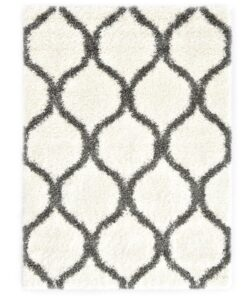 vidaXL shaggy tæppe Berber PP 80 x 150 cm beige og grå