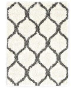 vidaXL shaggy tæppe Berber PP 140 x 200 cm beige og grå