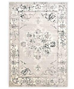 vidaXL gulvtæppe 160 x 230 cm PP grå og sort
