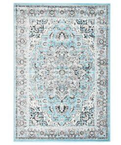 vidaXL gulvtæppe 120 x 170 cm PP lyseblå