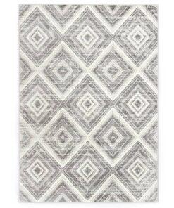 vidaXL gulvtæppe 80 x 150 cm PP grå