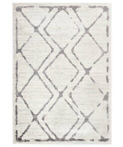 vidaXL gulvtæppe 140 x 200 cm PP cremefarvet og grå