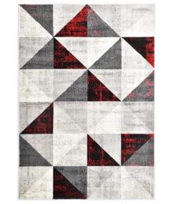 vidaXL gulvtæppe 120 x 170 cm PP sort og rød