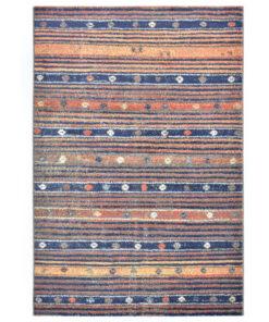 vidaXL gulvtæppe 120 x 170 cm PP blå og orange