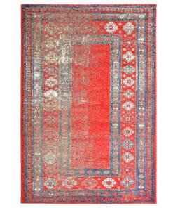 vidaXL gulvtæppe 120 x 170 cm PP rød