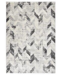 vidaXL tæppe 120 x 170 cm PP grå og hvid