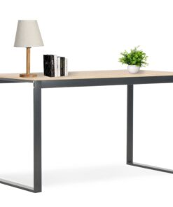 vidaXL computerbord 120 x 60 x 73 cm sort og egetræsfarve