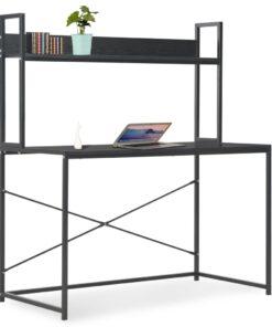 vidaXL computerbord 120 x 60 x 138 cm sort