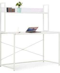 vidaXL computerbord 120 x 60 x 138 cm hvid