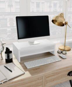 vidaXL skærmstander 42 x 24 x 13 cm spånplade hvid