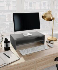 vidaXL skærmstander 42 x 24 x 13 cm spånplade grå