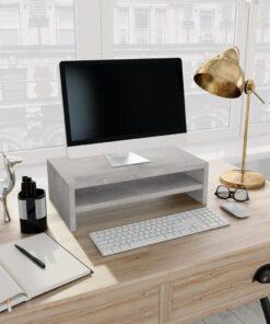 vidaXL skærmstander 42 x 24 x 13 cm spånplade betongrå