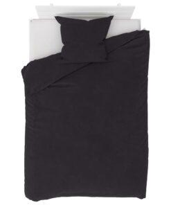 vidaXL sengesæt 155×220/80×80 cm fleece antracitgrå