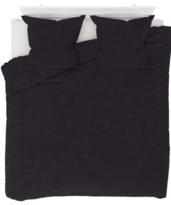 vidaXL sengesæt 200×200/80×80 cm fleece antracitgrå